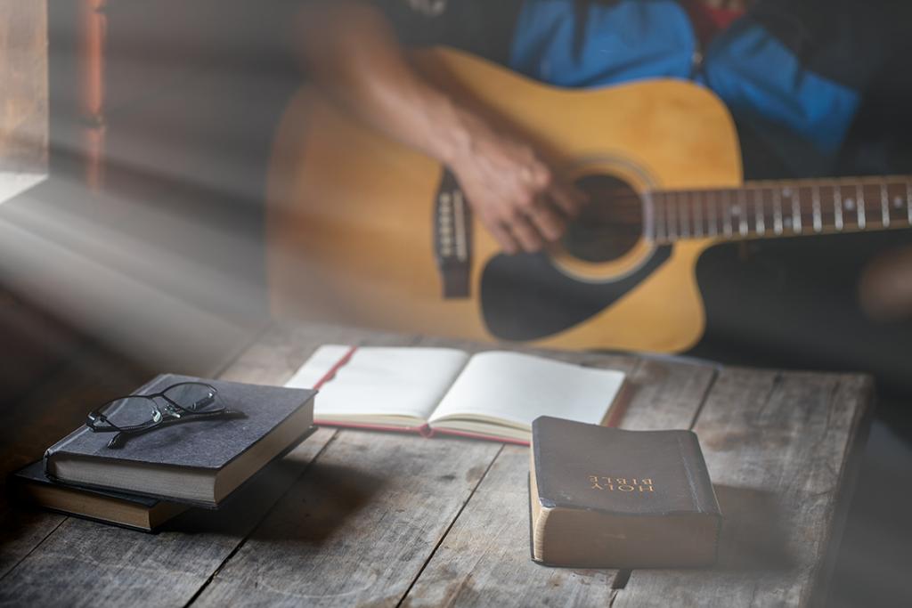Guitar and Bible